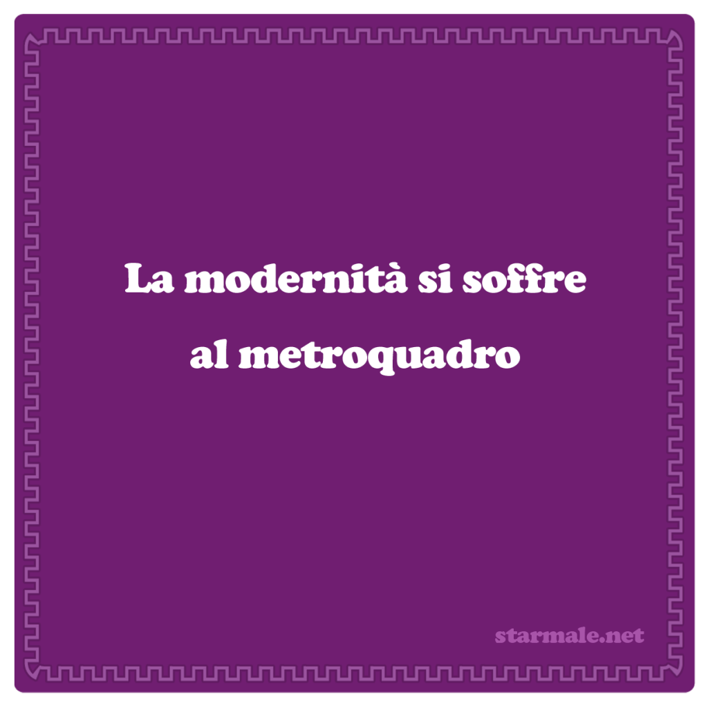 "Sottobicchiere ""Modernità"""