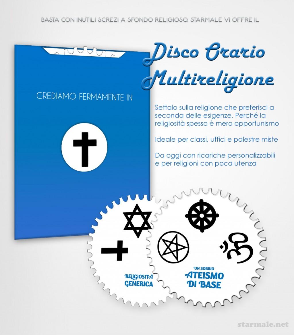 spot: Disco Orario Multireligione