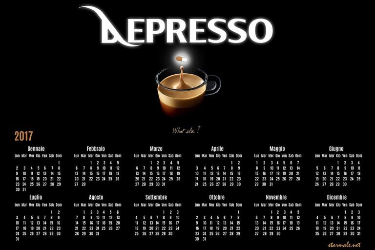 """Calendario serie """"Depresso"""""""