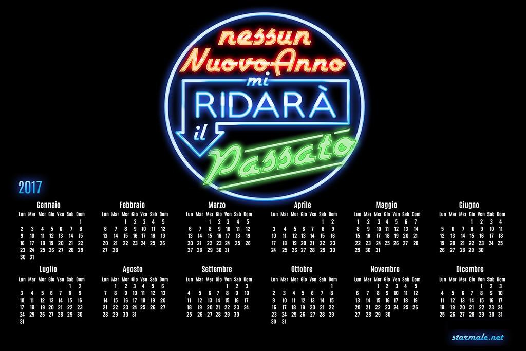 """Calendario """"Nostalgia"""" neon"""