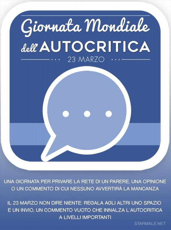 Giornata Mondiale dell'Autocritica