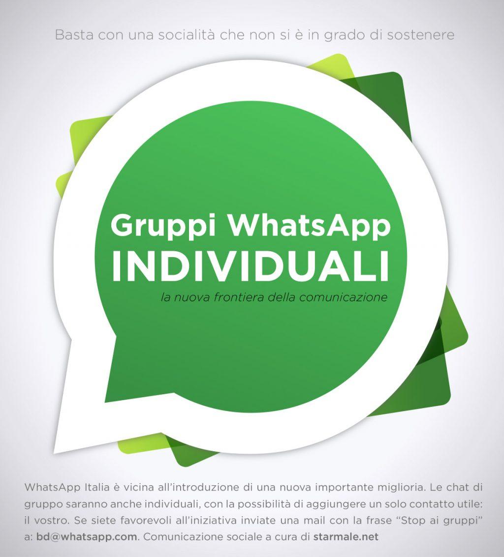WhatsApp: arrivano i Gruppi Individuali
