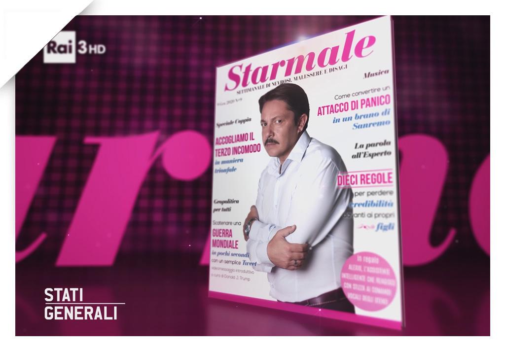 Starmale cover 05, Stati Generali, Rai3